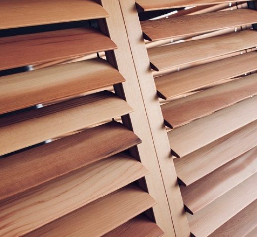 Western Red Cedar Plantation Shutters (Open)